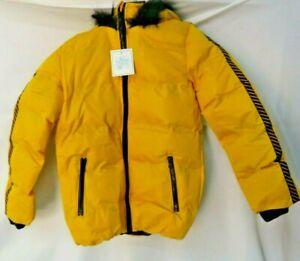 Boys Winter Coat Camo Puffer Active jacket Quilted Hooded Waterproof