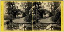 Stéréo Bedford circa 1870. Torquay - Lane near Torre Abbey. Devon. England.