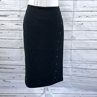 T Tahari Black Pencil Skirt 6 NWT $68