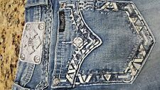 NWT Womens Miss Me Jeans Signature Straight low rise stretch size 25 27X31.25
