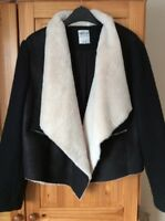 Zara Trafaluc Black Sheep Skin Jacket - Size XL (16)