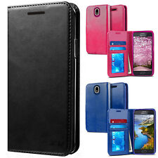 Samsung Galaxy Express Prime 3 Premium Photo Wallet Case Pouch Flap STAND Cover