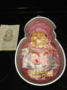 NOS Vintage Wilton Chick In Egg Cake Pan 1985 Chick Chocolatey Chick