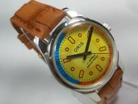 Vintage Mechanical Hand Winding Movement Mens Analog Wrist Watch C8
