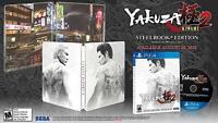 Yakuza Kiwami 2 Sony PlayStation 4, 2018 Steelbook New Sealed Exclusive PS4
