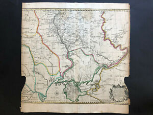 078 Antique Original 1745 map of Ukraine Extremely RARE!! by J.Tinney & C.Mosley