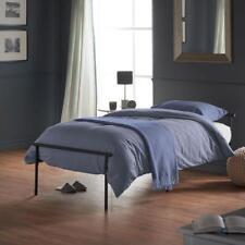 Black Single Bed Size Metal Frame Minimalist Simple Base Home Bedroom Furniture