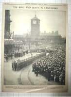 1938 Royal Tour at Blackburn, East Lancashire Regiment Inspected, Huge Crowds