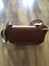 Ladies Genuine Leather Tan Shoulder Bag Made By Edinburgh Leather Crafts Used