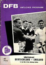 Länderspiel 12.05.1965 Deutschland - England in Nürnberg