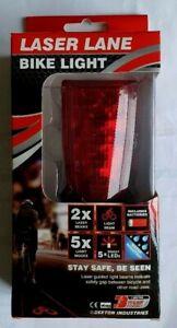 Dekton Laser Lane Bike Light - 2 Laser Beams, 5 LED Lights (Batteries Included)