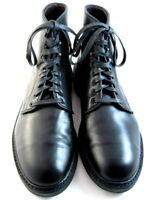 """Allen Edmonds """"Higgins Mill"""" WEATHERPROOF Boots 10 D Black Dainite Soles (567)"""