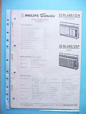 Manuel d'instructions service pour Philips 22 RL 496 , Taifun de luxe, Ascona,