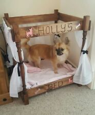 Chihuahua 4 poster bed Handmade & Personalised perfect for small/medium dogs