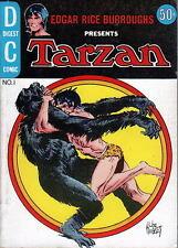 TARZAN DC Comics Digest #1 1972 164 pgs Kubert cover Manning art