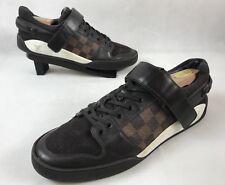 LV Louis Vuitton Men Shoes Elliptic Damier-paneled Sneakers Sz 9 Us 10