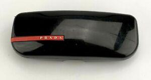 Prada Sunglasses Eyeglasses Case Only Hardcase Clamshell Black Made in Italy