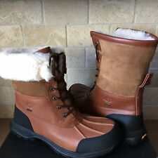 UGG Butte Worchester Waterproof Leather Fur Winter Snow Boots Shoes Size 13 Mens
