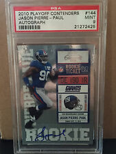 2010 Playoff Contenders # 144 Jason Pierre-Paul RC AUTO PSA Mint 9.....  Giants