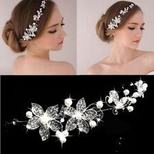 Fashion Women Beads Rhinestones Flower Wedding Bride Bridal hair Jewerly