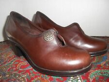 Dansko Women's Gold Button Pump Brown Leather Shoes 37 6-6.5 US $170 MSRP