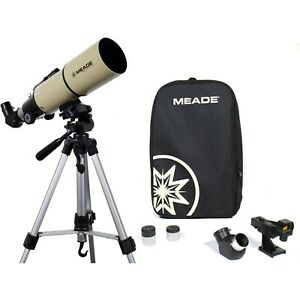 Meade Adventure Scope 80mm Refractor Telescope - Beige with tripod and rucksack