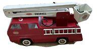 Vintage Tonka Snorkel Firetruck 1970's Pressed Steel W Garden Hose Hydrant NICE