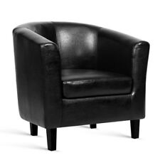 Pu Leather Dining Armchair Black