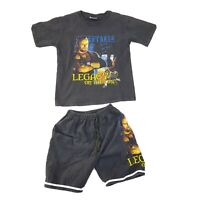 Vintage WWE The Undertaker Wrestling Kids Tshirt And Shorts Size 9/10