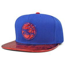 76b1426fe8673 Philadelphia 76ers TEAM STANDARD RADIATION Snapback Mitchell   Ness NBA Hat- Blue