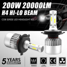 H4 9003 200W 20000LM LED Conversion Headlight KIT Hi/Low Beam 6000K White Canbus