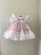 Vintage Lace Nylon Sheer Dress Pettiskirt Slip Set Vtg