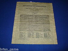 Texas Declaration of Independence, Republic of Texas, Parchment Reproduction