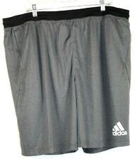 ADIDAS Climalite Mens Shorts Black Mesh Elastic Waist Drawstring Size 3XL NWT