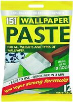 WALLPAPER PASTE 12 pint Pack Hangs up to 10 Rolls Super Strong Formula Easy Use
