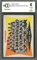1960 topps #208 CHICAGO WHITE SOX CL team card BGS BCCG 6