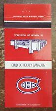 Vintage Matchbook Montreal Canadiens Forum de Montreal NHL Hockey