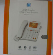 AT&T Large Button Corded Phone Screen Backlit Display Answering Machine CL4940