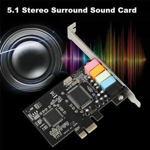 PCI Express PCI-E 5.1 Kanal 6-Kanal PCIE Audio Digital Soundkartenadapter