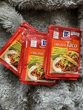 New listing McCormick Original Taco Seasoning Mix Spices Pack of 10 In vacuum Sealed Bag.