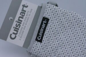 Cuisinart Mini Oven Gloves Mitts In Grey Pattern Heat Resistant Silicone