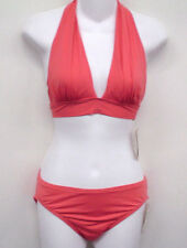 TOMMY BAHAMA Orange Halter Bikini Swimsuit XS Cup A B NEW
