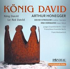 ARTHUR HONEGGER KING DAVID CD NEW NARINE YEGHIYAN ROWAN HELLIER JAN REMMERS
