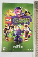 Lego DC Super Villians Video Game RARE Print Advertisement