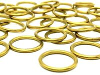 30 x HOLLOW BRASS RINGS 19mm / 25mm curtain pole tieback ring (744) ( 587)