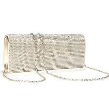 Shimmering Gold Diamante Evening Bag Clutch Purse Wedding Party Handbag