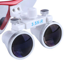 Dental Loupes Optical Glass & LED Light Lamp Portable Head Surgical Binocular