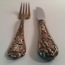 REED & BARTON (LENOX) Table Knife and Fork Sterling Set RARE - 20-000