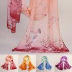 Fashion Womens Floral Skull Chiffon Scarf Soft Shawl Silk Wrap Neck Warm Stole