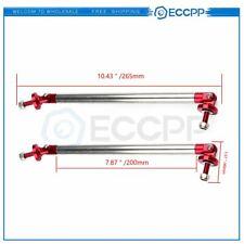 7.9'' Red Adjustable Front Car Bumper Lip Splitter Strut Rod Tie Support Bar 2Pc